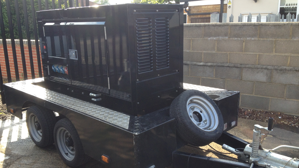 Northumberland Stage Hire 20KVA Ultra Silent Road Towable Diesel Generator